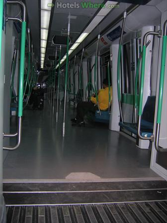 Madrid metro train interior