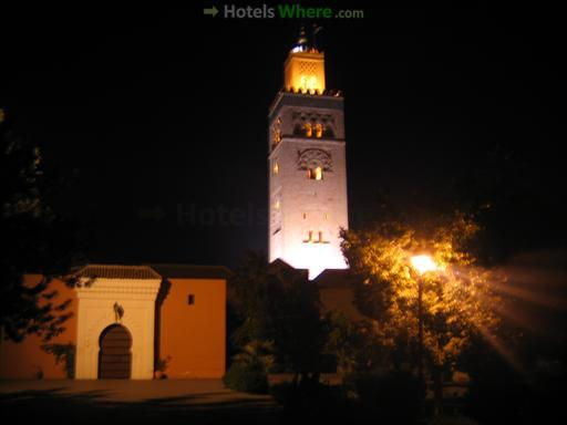 Koutoubia Mosque by night