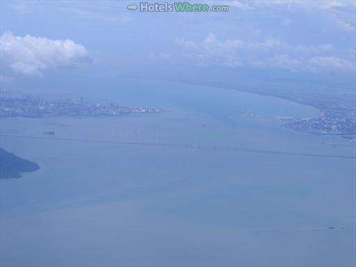 Penang Bridge aerial view