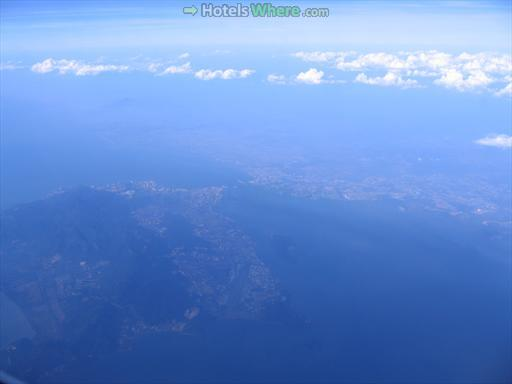 Penang Island and Selatan Strait from the air